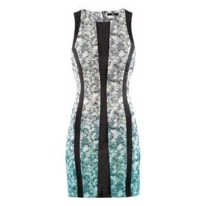 💜 H&M Floral Ombre Figure Flattering Sheath Dress